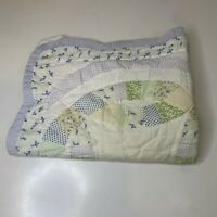 quilted pillow sham zip closure purple green floral print cotton blend some