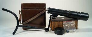 Vintage 1974 Leica Leitz Telyt 400mm f/6.8 & Shoulder Stock in Carrying Case