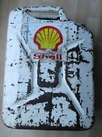 Vintage Jerry Can With Shell Sticker/Logo - Great Patina/Wear Man Cave Display
