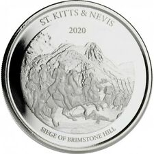 SAINT KITTS ET NEVIS 2 Dollars Argent 1 Once Brimstone 2020