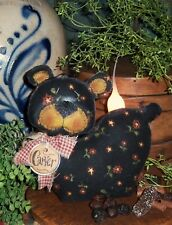 Primitive Black Teddy Bear Doll Ornie Paper Pattern #446