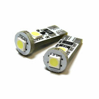 2x Bright Xenon White 3SMD LED Canbus Error Free Number Plate Bulbs