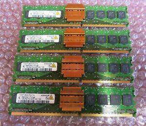 Qimonda HYS72T128020HFN-3.7-A 4GB (4x1GB) PC2-4200 DDR2 ECC CL4 240P DIMM Memory