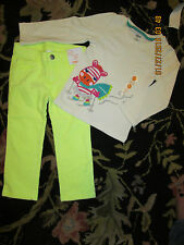 NWT Gymboree COLOR HAPPY Outfit Zebra White Tee Shirt & Green Gem PanTS SZ 2T