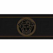 VERSACE GREEK KEY WALLPAPER BORDERS - BLACK 935224 NEW DESIGNER