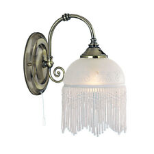 Searchlight Victoriana Antique Brass Beaded Glass Wall Fitting Bracket Light New