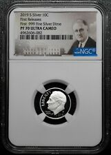 2019 S Silver Proof Roosevelt Dime Ngc Pf70 First Releases .999 Coin Sku C65