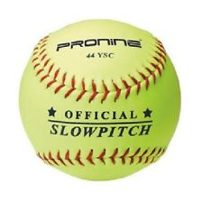 "PRONINE 44YSC 12"" Yellow Slowpitch Softballs (1 DOZEN)"
