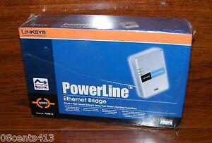 Cisco Linksys (PLEBR10) Wired High Speed PowerLine Ethernet Bridge **NEW**
