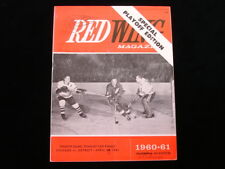 1961 Chicago Black Hawks @ Detroit Red Wings Stanley Cup Finals Game 4 Program