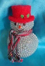 Vintage Christmas Snowman Brooch Pinback Button Lapel Hat Pin