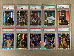 2017-18 Panini NBA Hoops Career Tribute Complete Set PSA Silver /199 Kobe Bryant