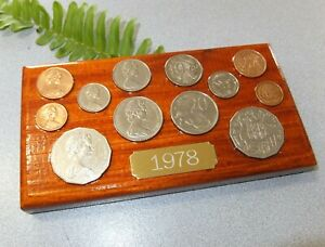 1978 Australian Decimal Coin Set (wall plaque) Great 43rd birthday gift for 2021