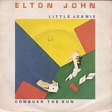 """45 TOURS / 7"""" SINGLE--ELTON JOHN--LITTLE JEANIE / CONQUER THE SUN--1980"""