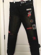 Born Fly Men's Denim Jean Pants Designer Graphic Sz 32 Clothes