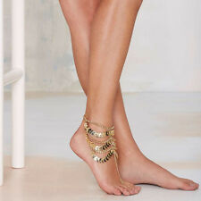 1Pc Women Gold Coin Ankle Chain Foot Bracelet Barefoot Beach Jewelry Charms Gift
