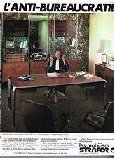 Publicité Advertising 1978 Les Mobiliers Strafor