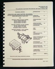 Cargo Trailer 2-Wheel 3/4-Ton M101A1 M101A2 M101A3 M116A1 M116A2 M116A3 Manual