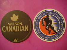 2007 Beer Brewery Coaster ~ MOLSON Canadian Lager ~ Hockey Hall of Fame ~ CANADA
