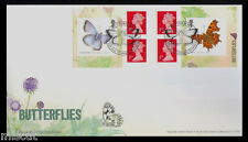 2013 BUTTERFLIES BOOKLET PM39 FIRST DAY COVER FDC  DOWNPATRICK Handstamp