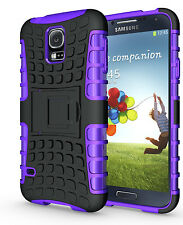Purple Case Cover Stand for Samsung Galaxy S5 Heavy Duty Strong Durable Tough