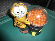 Vintage Garfield Bubble Gum Machine & 1988 Pocket Pack Gumball Dispencer