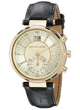 Michael Kors MK2433 Sawyer Black Leather Ladies Watch