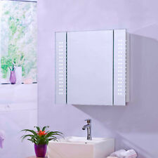 ENKI MC001 LED Illuminated Bathroom Mirror Cabinet Demister Shaver Socket GALAXY