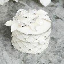 Sophia Silberüberzug & Epoxid Blumen Schmuckkästchen SP1965