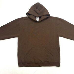 Soffe basic brown boy's hooded sweatshirt NWOT Size large 14-16 heavyweight pock