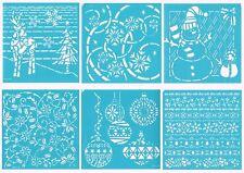 Darice Christmas Stencils HOME FOR THE HOLIDAYS (6) 6x6 Reusable Self Adhesive