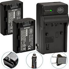 BM 2X NP-FH50 Batteries & Charger for Sony CyberShot DSC-HX1 HX100V HX200V TG5V
