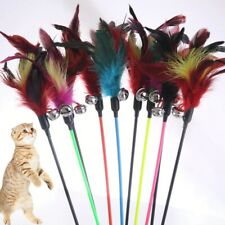 Cat Toys Pole Stick Feather Small Bell Game Safety Pet supplies wand Teaser 1Pc