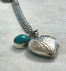 Pendants  & Chain Sterling Silver Heart Locket & Pendant (104860V)
