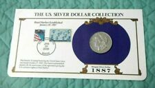 1887 Morgan Silver Dollar + Commemoration Stamps Pearl Harbor
