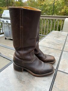 Women FRYE Campus Boots-  Brown Leather Size 8