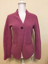 RARE Eileen Fisher Wool Blend Blazer Soft Fuzzy Warm Winter Pink Jacket XS