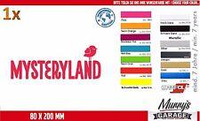 Mysteryland 80 x 202mm Aufkleber, Sticker, Decal, Autocollant, Étiquette