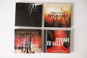 Subway to Sally 4 CDs + DVD Engelskrieger Schwarz in Schwarz Nackt Bastard