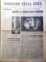 Corriere della Sera del 18 Luglio 1969 Spazio Luna Apollo Garbo Merckx Benvenuti