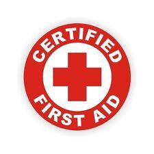 Certified First Aid Hard Hat Decal Helmet Vinyl Sticker Safety Label Safe Worker