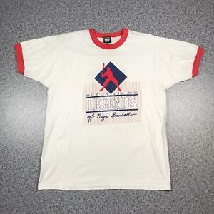 1990 Vintage BLACK LIVING LEGENDS BASEBALL T Shirt XL | Single Stitch 50/50