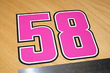 Marco Simoncelli Number 58 Decal - Large (Pink)