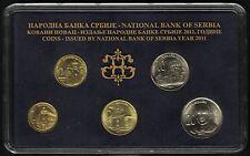 Serbia Official Central Bank Mint Set 2011. 5 Coins, 1, 2, 5, 10, 20 Dinara