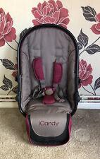 ICANDY Claret Pink/ Black Lower Seat fits peach 3 2 1 converter tandem seat unit
