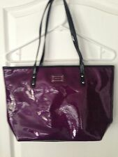 NWOT Nine West Purple Patent Shopper Tote w/Jewel Interior & Matching Pouch
