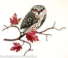 WALL ART - OWL IN MAPLE TREE METAL WALL SCULPTURE - WALL DECOR