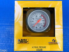 Auto Meter 4328 Ultra Lite Nitrous Pressure Gauge NOS 0-2000 PSI Mechanical