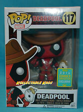 Deadpool - Cowboy Deadpool SCE 2016 Exclusive Pop! Vinyl Figure SDCC + Protector