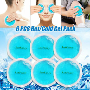 Ice Gel Beads Hot Cold Pack Eye Pad  for Migraines Puffy Eyes Soft Plush Backing